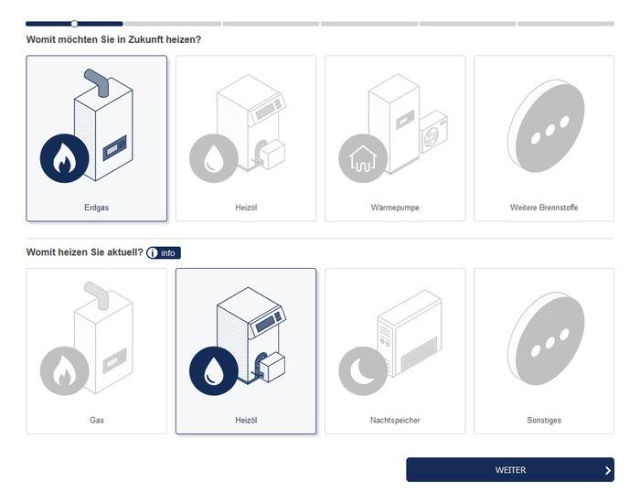 Unser interaktiver Heizungsrechner